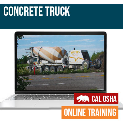 Concrete Truck CAL Online Training