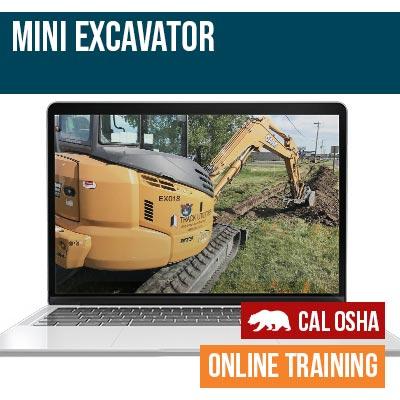 California Safety Training Mini Excavator